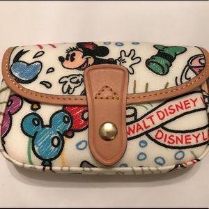 NWOT Dooney and Bourke Disney Sketch Wristlet